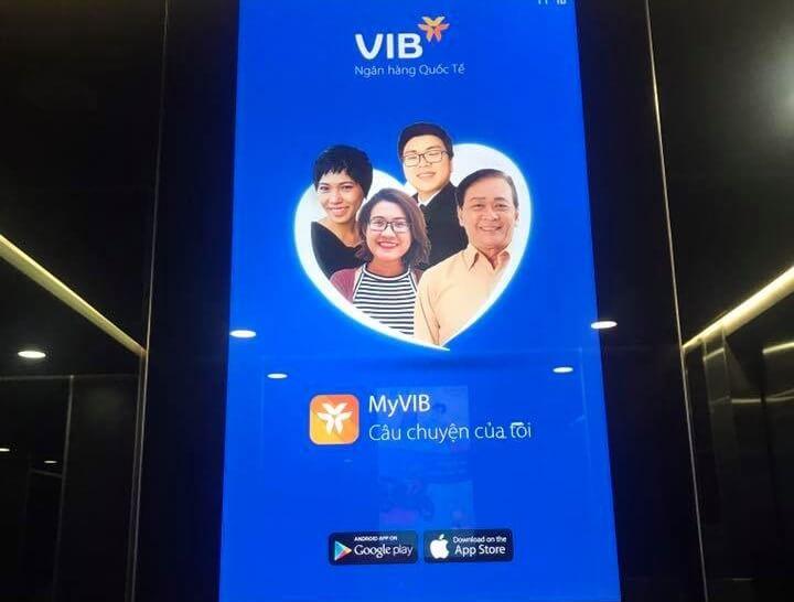 Màn hình quảng cáo trong thang máy Park 2 Times City