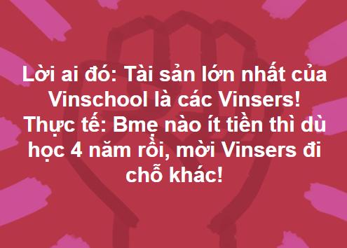 Phản đối Vinschool tăng học phí